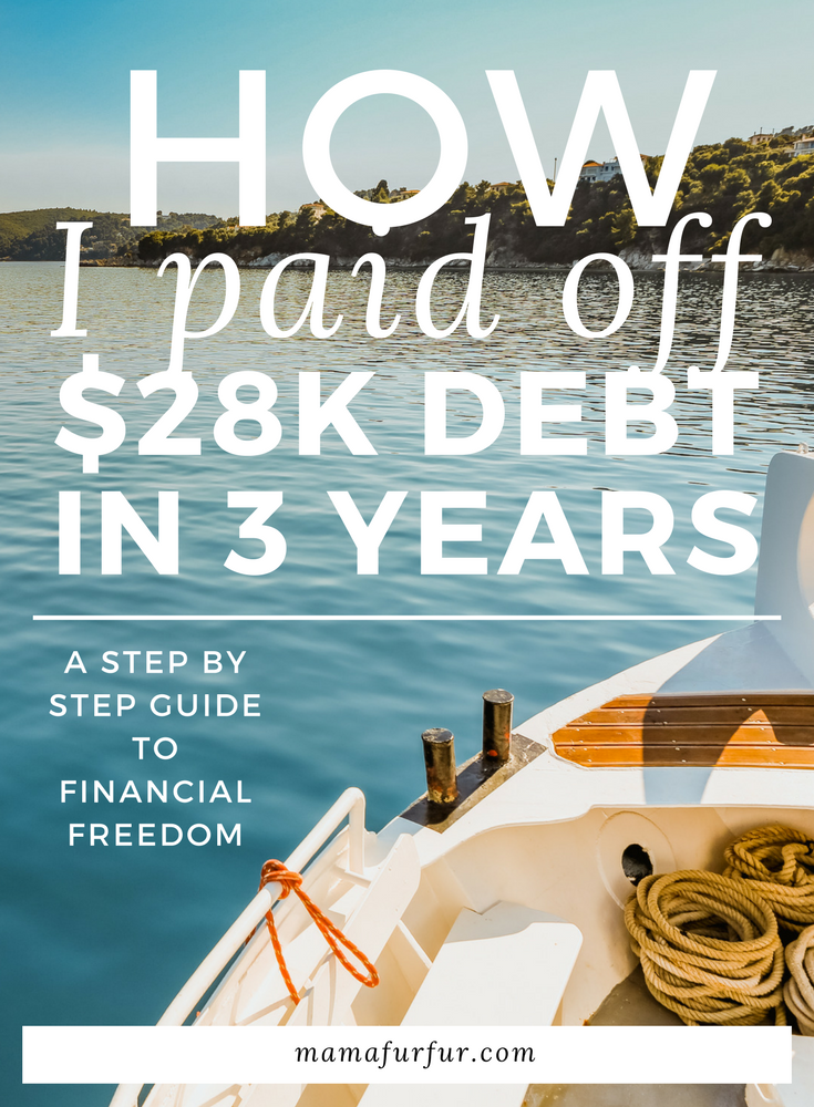 How I paid off $28k debt in 3 years