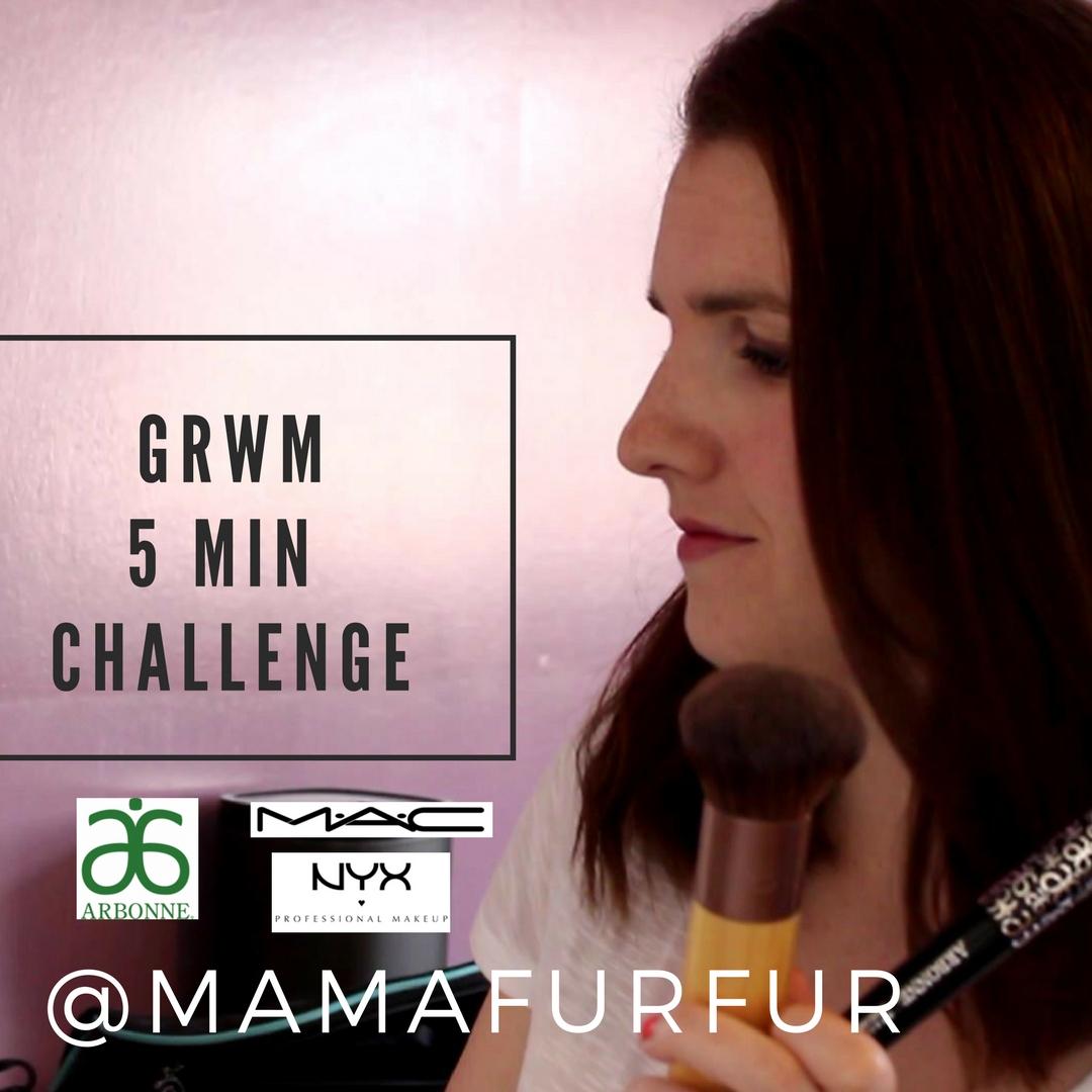 Get Ready with Me 5 Min Challenge - Mamafurfur Vlog channel - Jennifer Kempson @mamafurfur