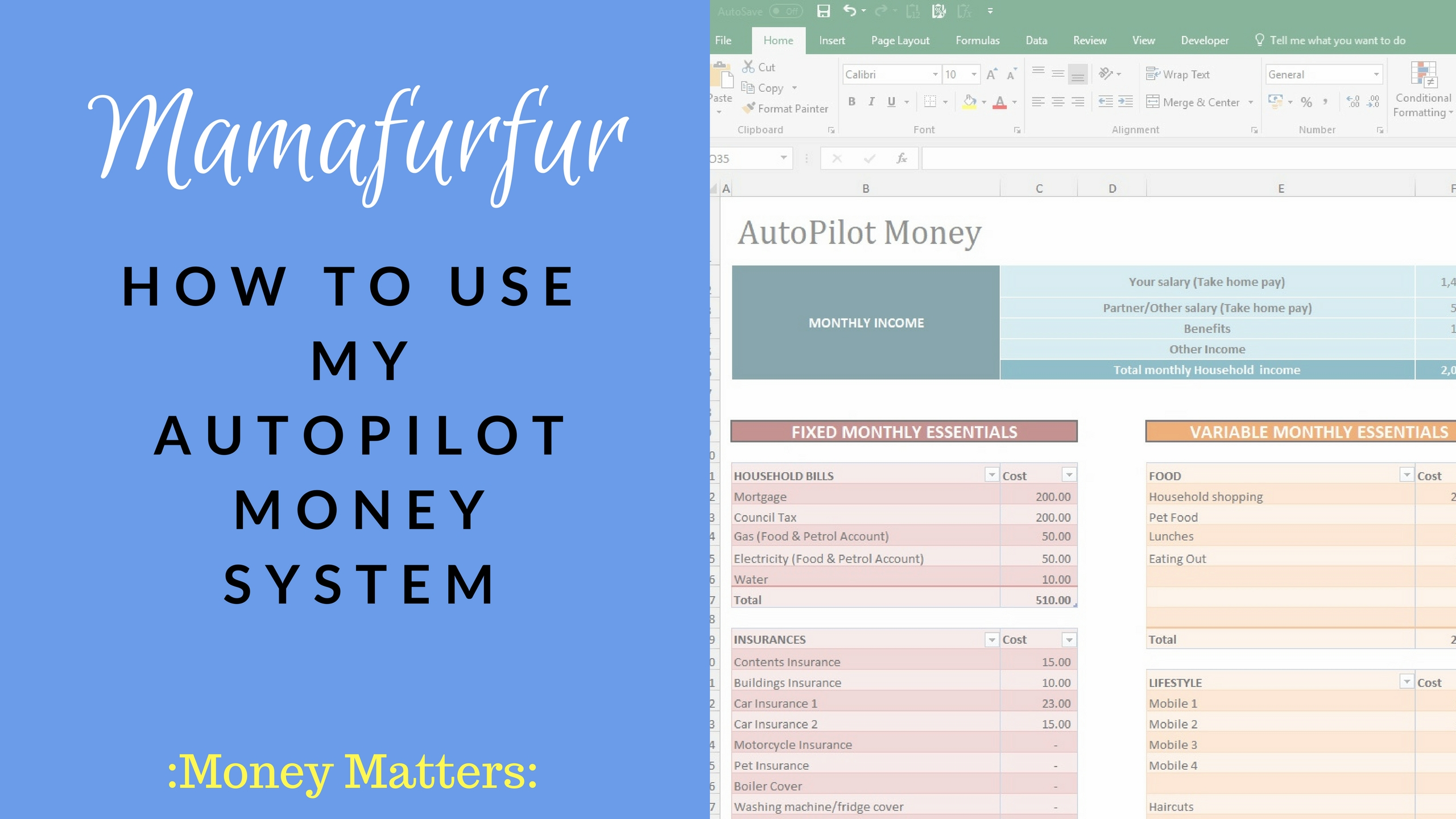 How to Budget - How to use my AutoPilot Money System