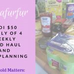 £42/$50 Family Weekly Food Haul and Meal Planning