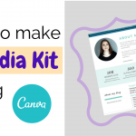 How to make a Media Kit using Canva for Blogs or Website