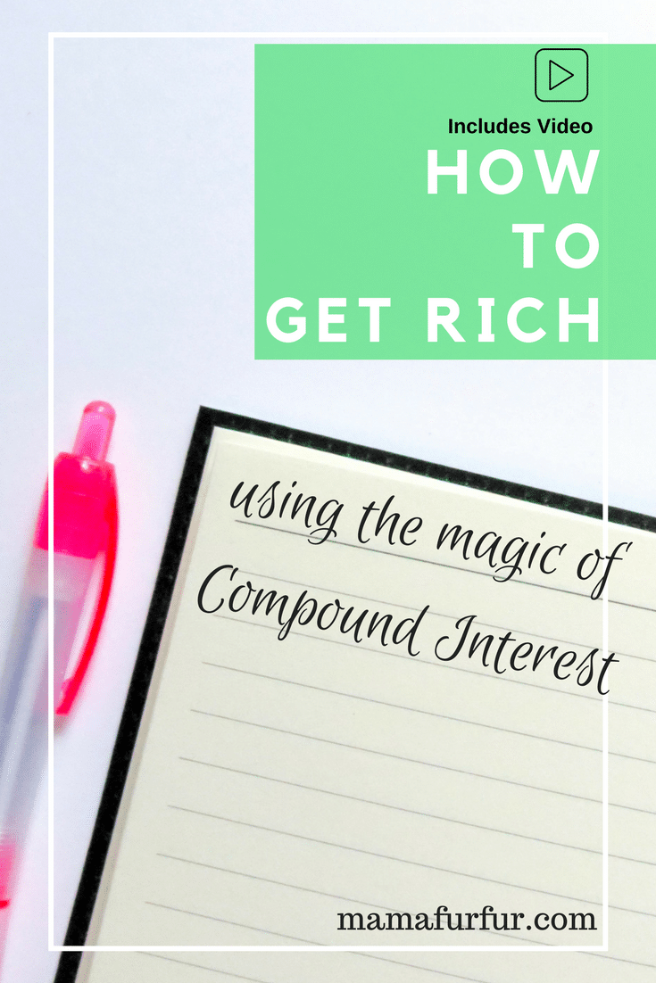 How to get rich using the power of compound interest #smartersavings #debtfree #financialfreedom #budgeting