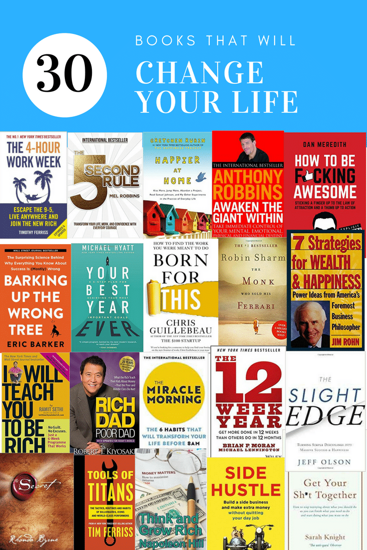 30 Personal Development Books that will change your life - finances confidence self care financial freedom #selfcare #personaldevelopment #books #bookclub