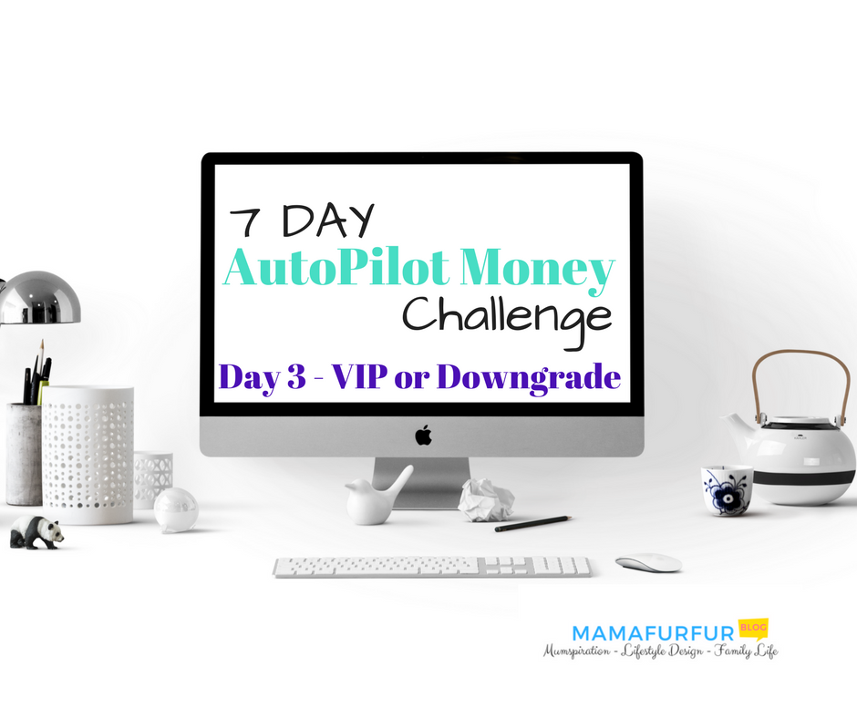 Day 3 7 day money challenge VIP or downgrade it #debtfree #financialfreedom #budgetting