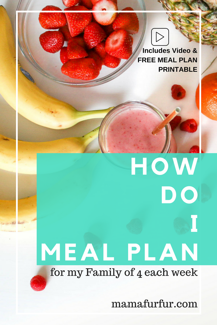 How do I meal plan for my family of 4 each week #mealplanning #mealplan #householdchores #savemoney #debtfree #smartermoney