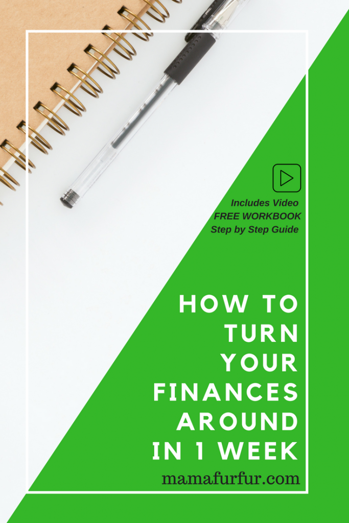 how to turn your finances around in 1 week 7 day autopilot Money Makeover #debtfree #financialfreedom #budgetting