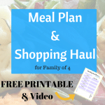 March Meal Plan & Shopping Haul for family of 4 | Grocery Shopping on a Budget