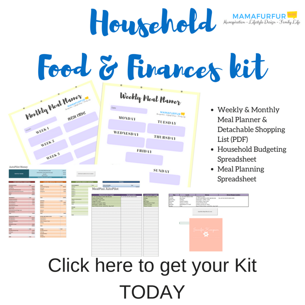 Organised Home Meal Planning Kit: Budgeting, Meal Planning, , Planner Pages, Monthly and Weekly Shopping List - Instant Download