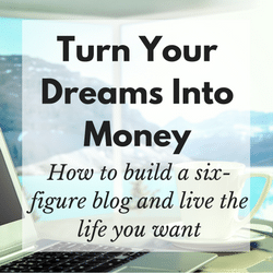 Turn Your Dreams Into Money Blogging Course link