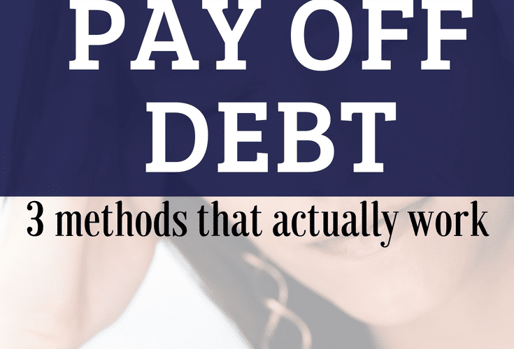 How to pay off debt - three methods of debt repayment that work #finances #debtfree