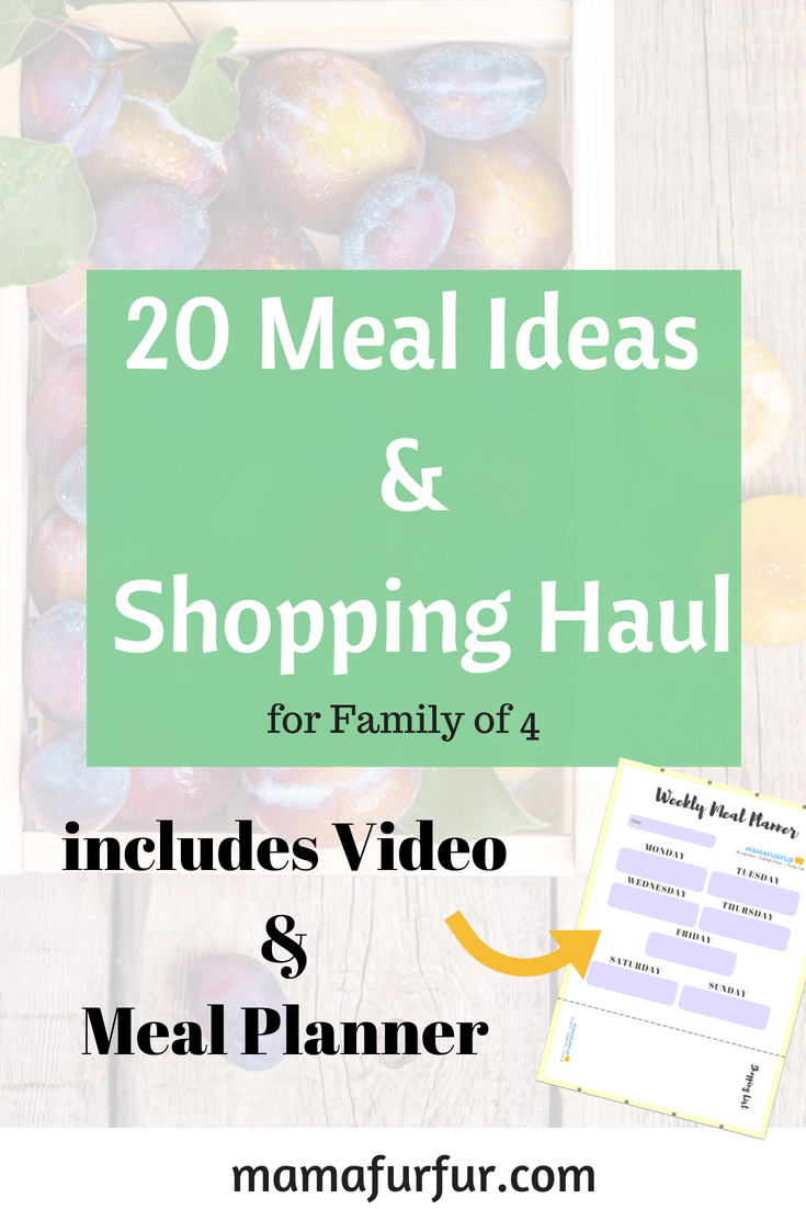 Meal Plan for family of four real family recipes easy and quick #mealplanning #recipes