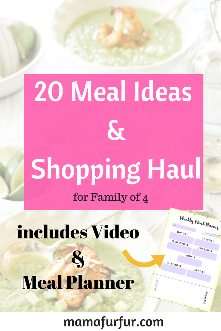 20 Meal Ideas Meal Planner and shopping haul #familybudget #shoppinghaul #mealplan #mealprep