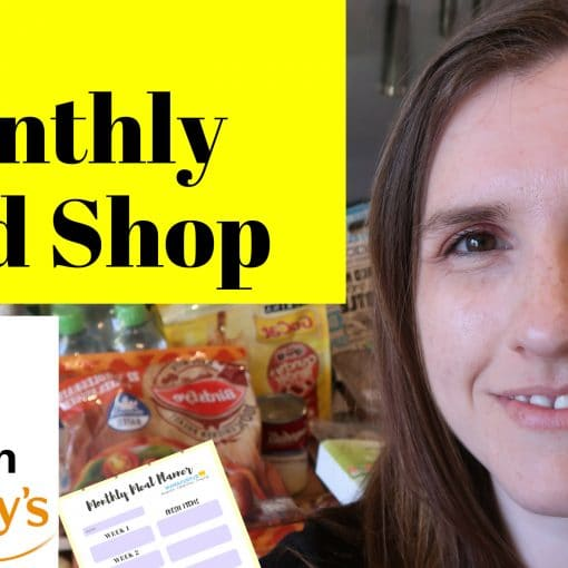 Sainsburys June2018 FAMILY GROCERY HAUL UK MONTHLY FOOD SHOP FOR A FAMILY OF FOUR