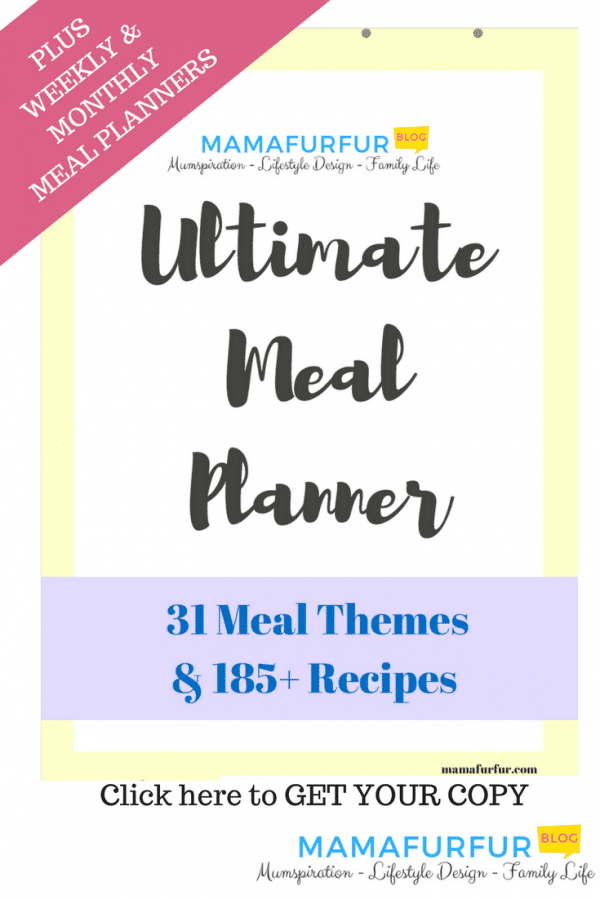 Ultimate Meal Planning & Recipe Bundle Etsy Store Mamafurfur - 31 Dinner themes and 185+ recipe links #budgeting #mealplanning #homefinances