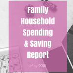 May 2018 Family Household Spending & Saving Update ¦ Real Family Budget Report