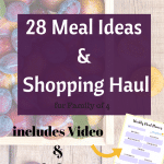August Meal Plan & Shopping Haul for family of 4 | Grocery Shopping on a Budget