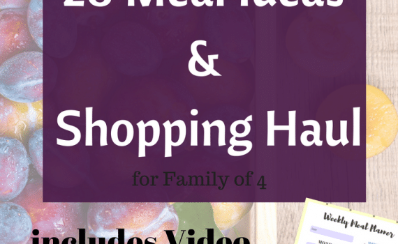 28 Meal Ideas and Shopping Haul - Family Meal planning guides #budgeting #familymeals #mealplanning