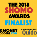 I'm nominated for TWO UK Money Bloggers Awards 2018