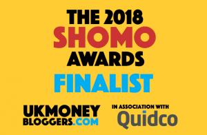 I'm nominated for TWO UK Money Bloggers Awards 2018