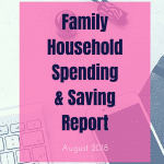 August 2018 Family Household Spending & Saving Update ¦ Real Family Budget Report