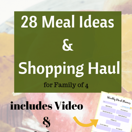 28 Meal plan ideas and shopping haul for busy family budgets #budgeting #debtfree #frugalliving