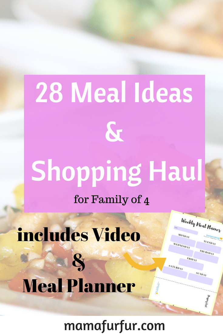 28 Meal ideas and meal planner for family of four #budgeting #familymeals #funmealideas
