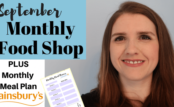 September 2018 Monthly Meal Plan for a family of four Sainsburys UK #budgeting #mealplanning #debtfree
