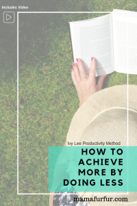 The Ivy Lee Method How to Achieve more with less time #productivity #mindset #balancedlife