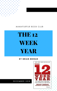 December 2018 Book Club Selection – The 12 Week Year by Brian Moran