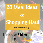 December Meal Plan & Shopping Haul for family of 4 | Grocery Shopping on a Budget