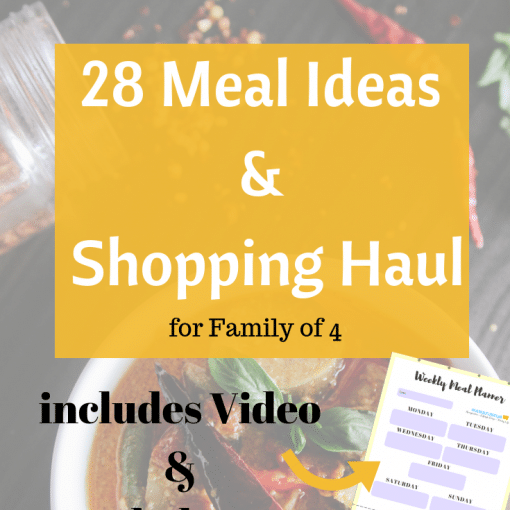 28 Meal Ideas and shopping haul video #debtfreeuk #mealplanning #familyfoodideas