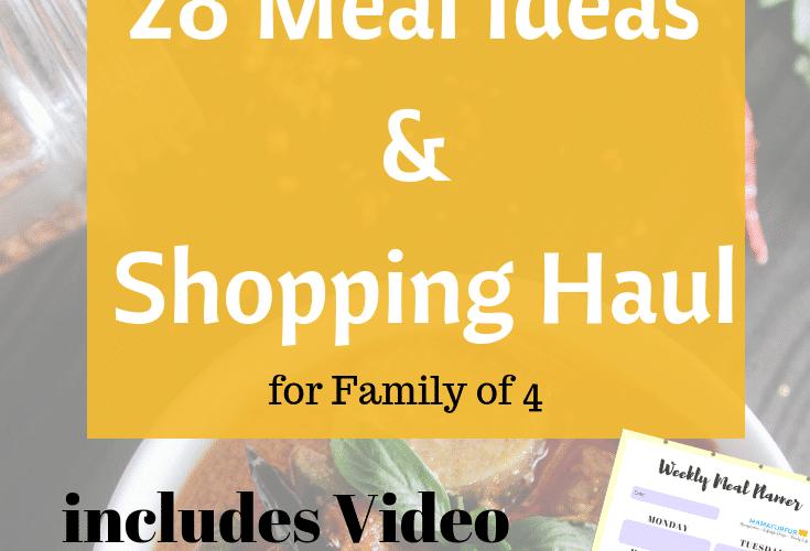 28 Meal Ideas and shopping haul video #debtfreeuk #mealplanning #familyfoodideas