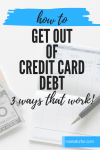 How to get rid of credit card debt #debtfree #creditcard #finances