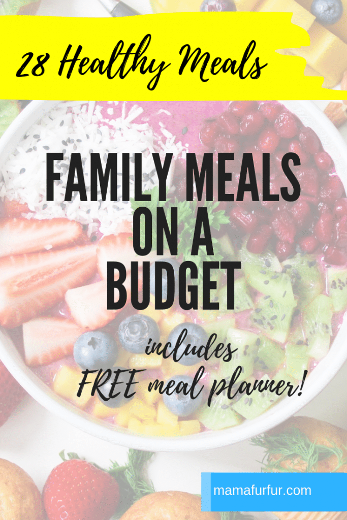 Family Meals on a Budget with free Meal planner #meals #familyfood #budgeting