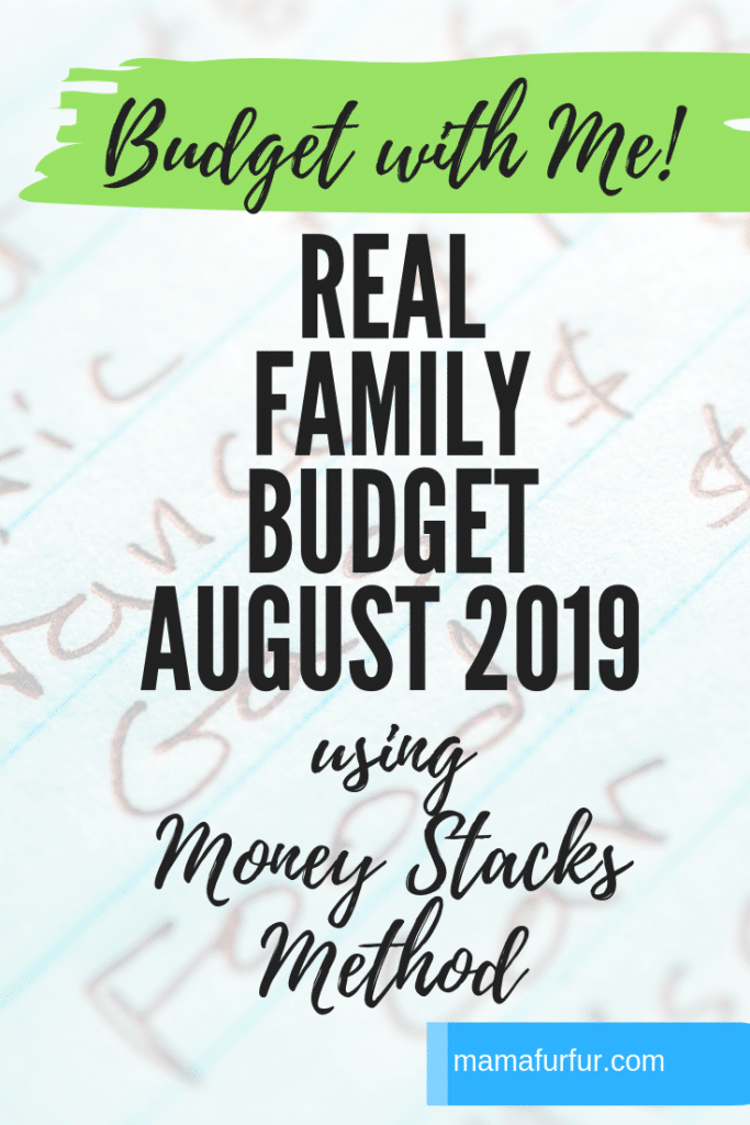 August 2019 Real Family Budget - Step by Step - Financial Freedom